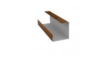 Доборные элементы (Блок-хаус/ЭкоБрус) Grand Line в Ульяновске Планка угла внутреннего составная нижняя